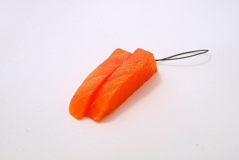 2 Cuts of Salmon Sashimi Cell Phone Charm/Zipper Pull