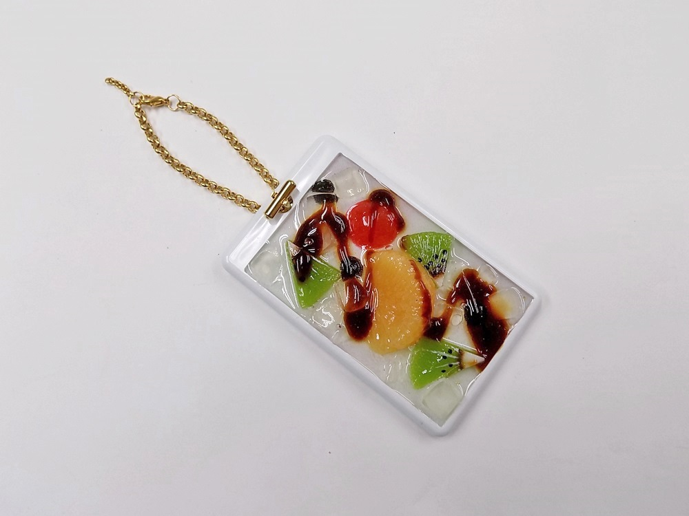 Anmitsu Dessert Pass Case with Charm Bracelet