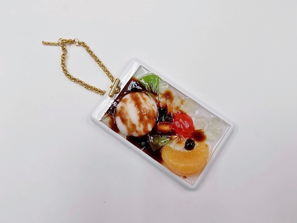 Anmitsu with Ice Cream Dessert Pass Case with Charm Bracelet