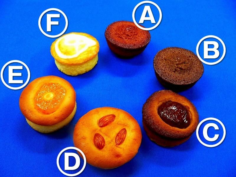 カップケーキ6種 食品サンプル
