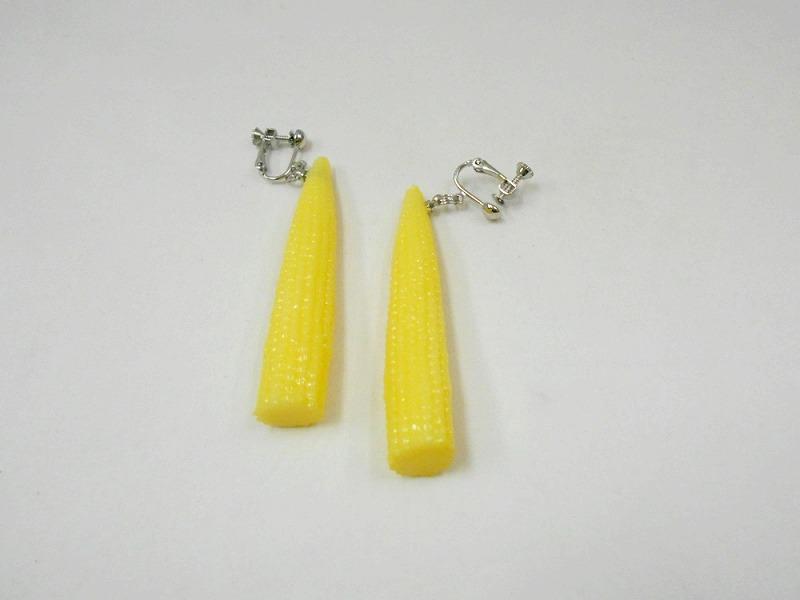 Baby Corn Clip-On Earrings
