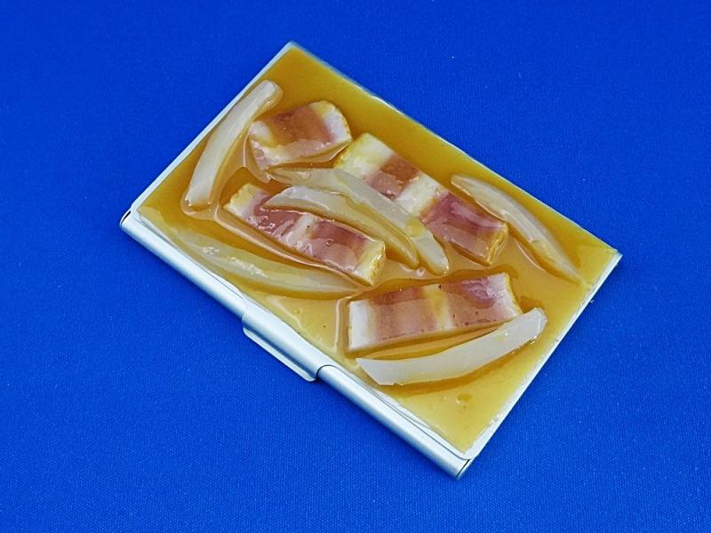 味噌汁・ベーコン&玉ねぎ 名刺入れ