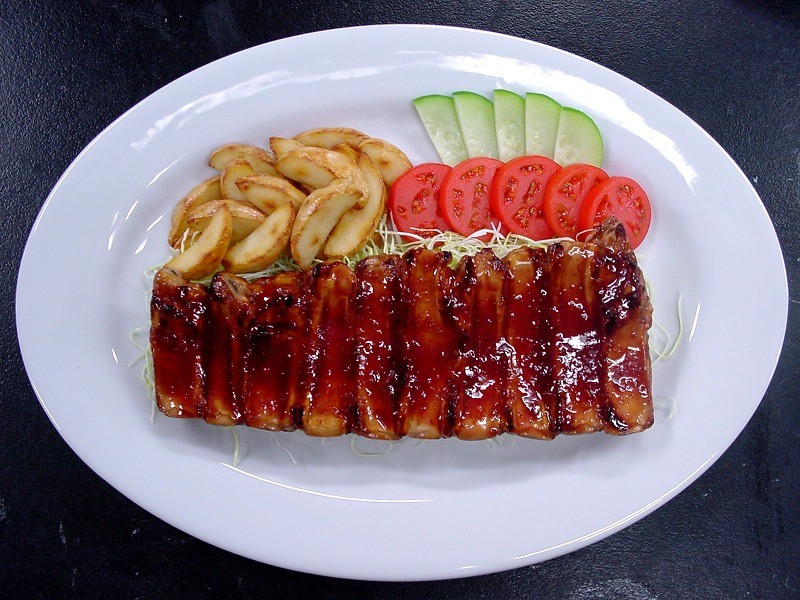 Barbecued Baby Back Ribs Replica