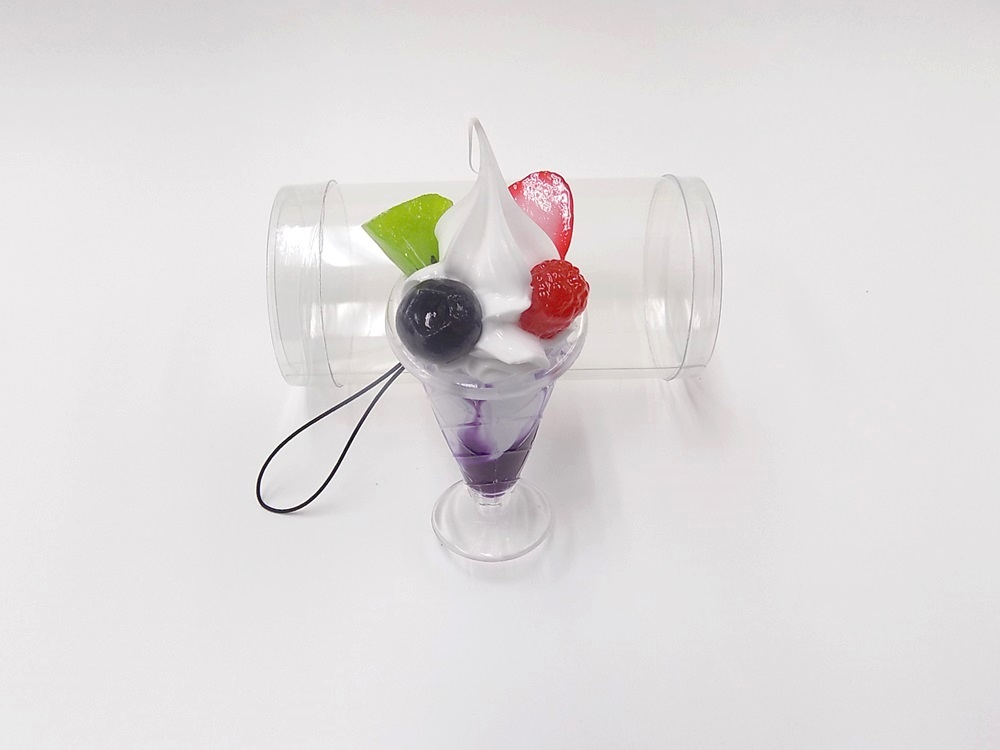 Blueberry Parfait (mini) Cell Phone Charm/Zipper Pull