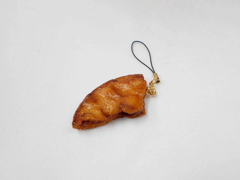 Broken Soy Sauce (Shoyu) Senbei (Japanese Cracker) Cell Phone Charm/Zipper Pull