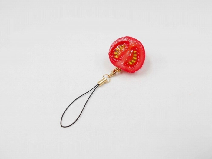 Cherry Tomato (half-size) Cell Phone Charm/Zipper Pull