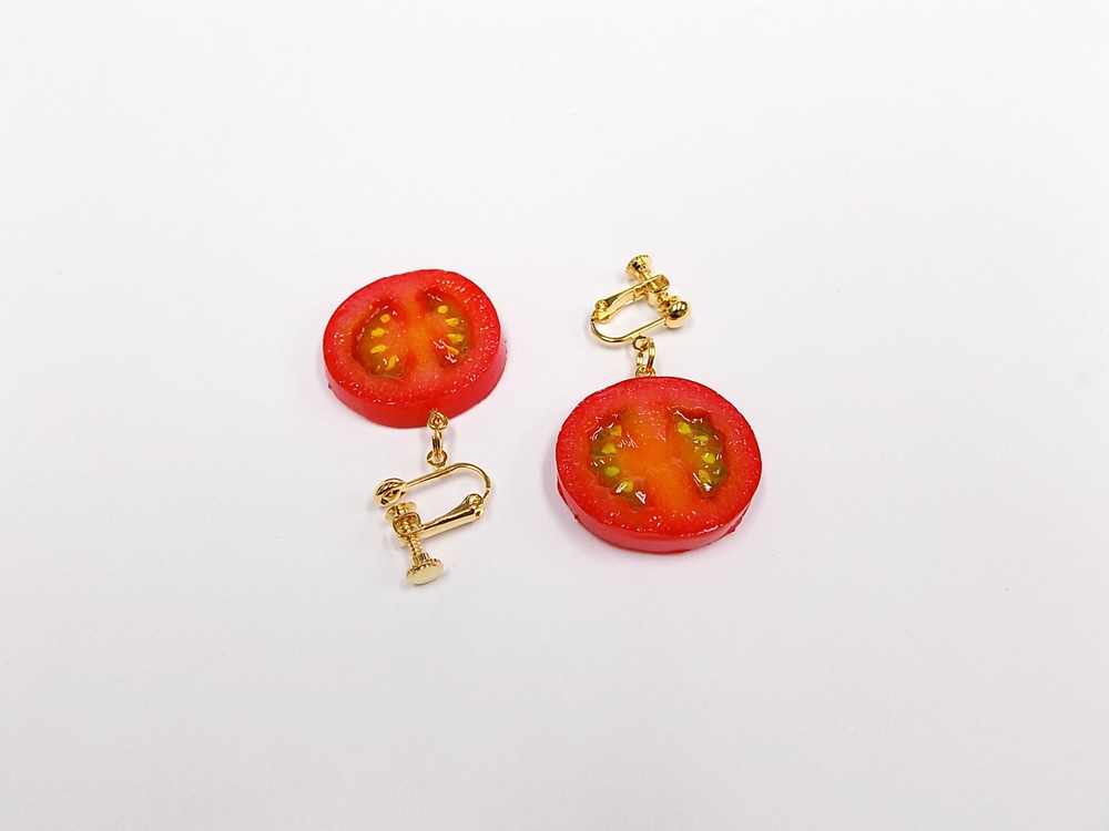 Cherry Tomato (half-size) Earrings