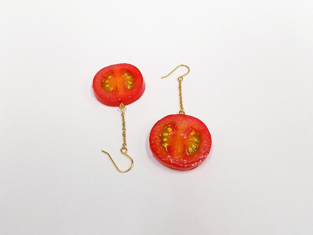 Cherry Tomato (half-size) Pierced Earrings
