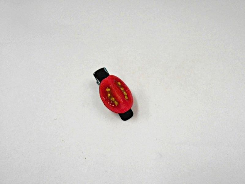 Cherry Tomato (quarter-size) Hair Clip