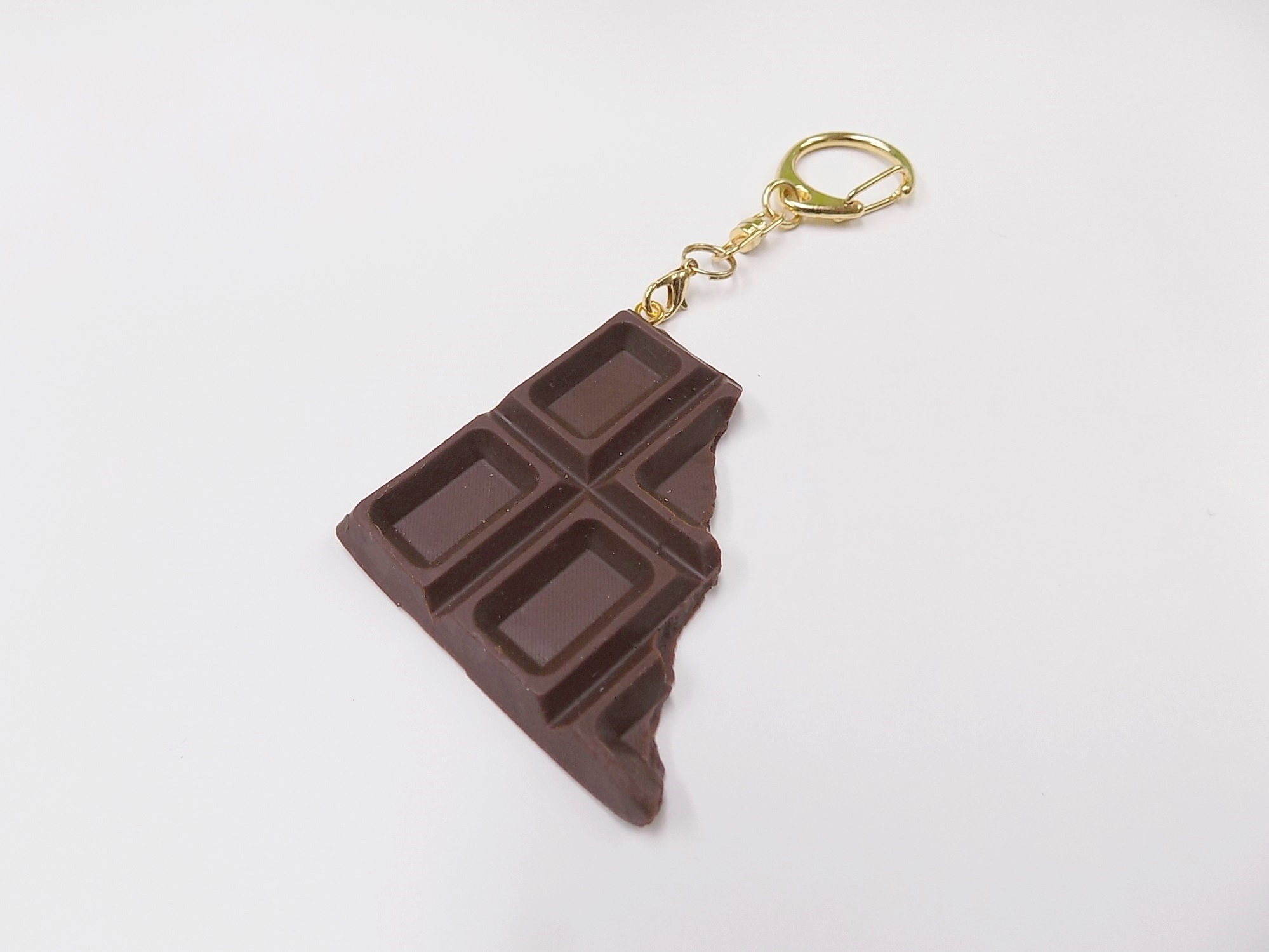 Chocolate Bar Piece Keychain