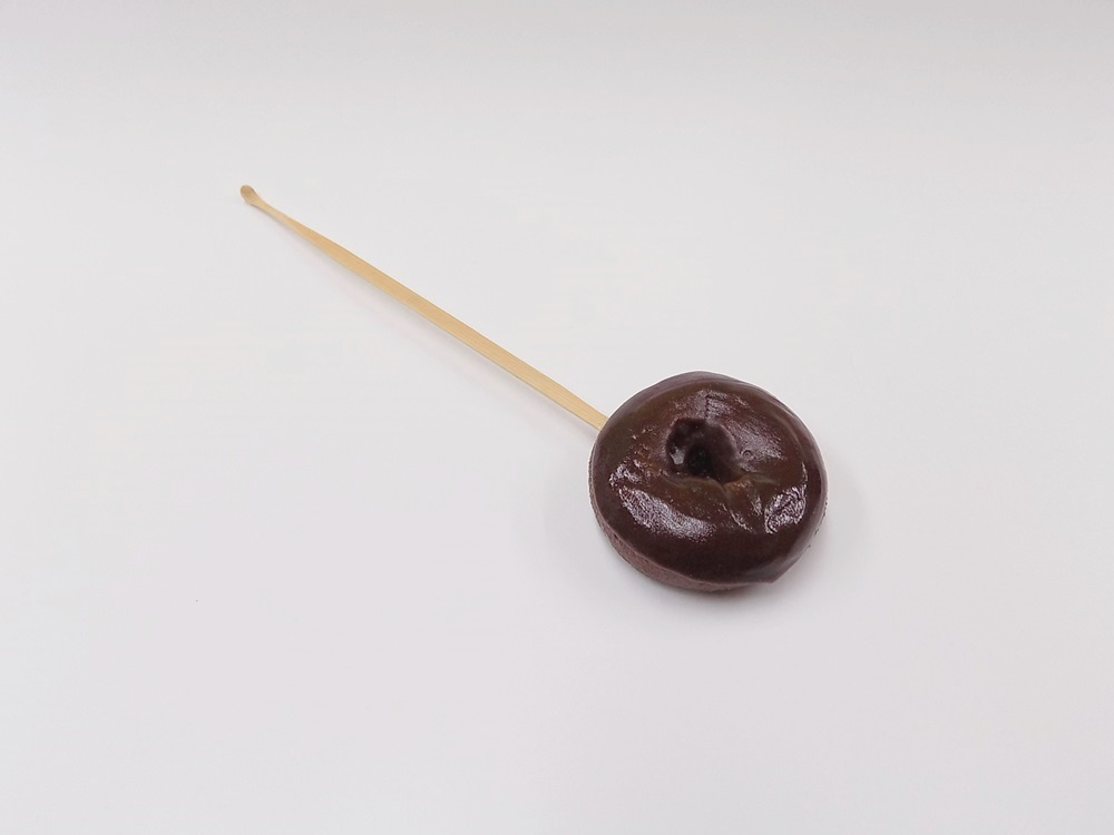 Chocolate Frosted Chocolate Doughnut (small) Ear Pick