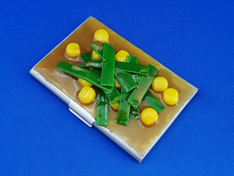 Corn & Leek Miso Soup Business Card Case