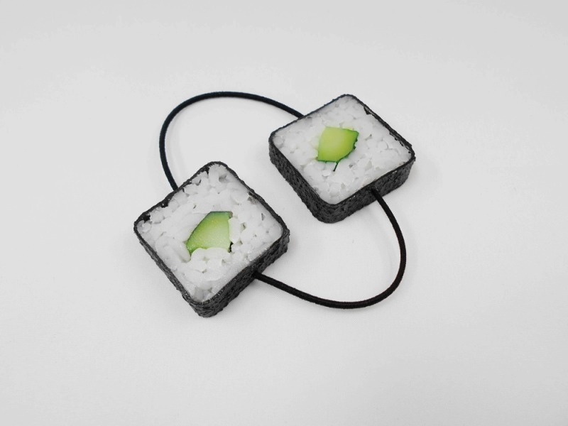 Cucumber Roll Sushi Hair Band (Pair Set)