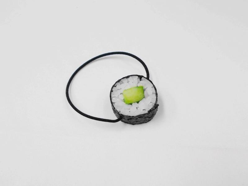 Cucumber Roll Sushi (round) Hair Band