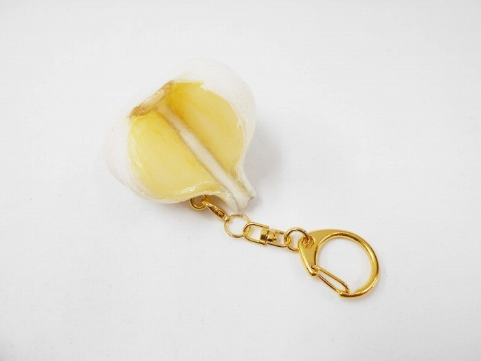 Cut Garlic Keychain
