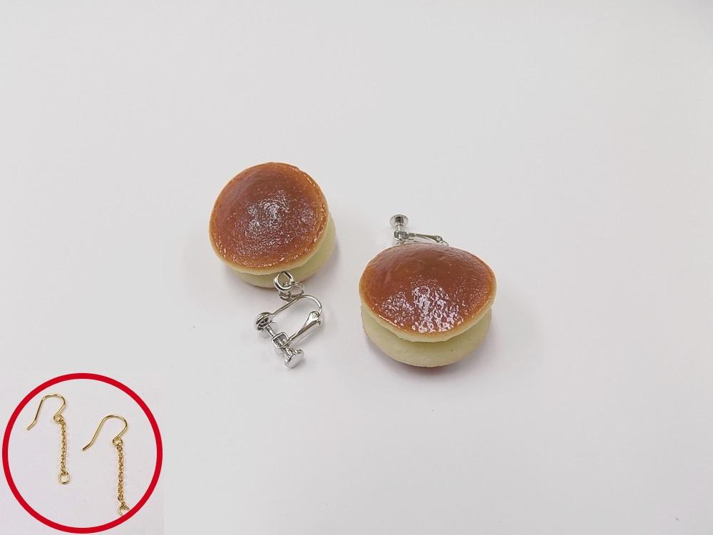 Dorayaki (Red-Bean Pancake) Pierced Earrings