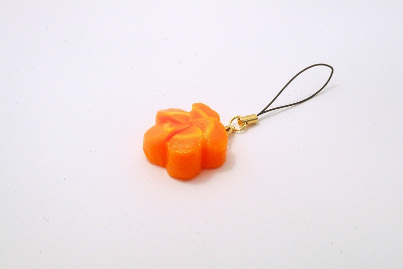 Flower-Shaped Carrot Ver. 2 Cell Phone Charm/Zipper Pull