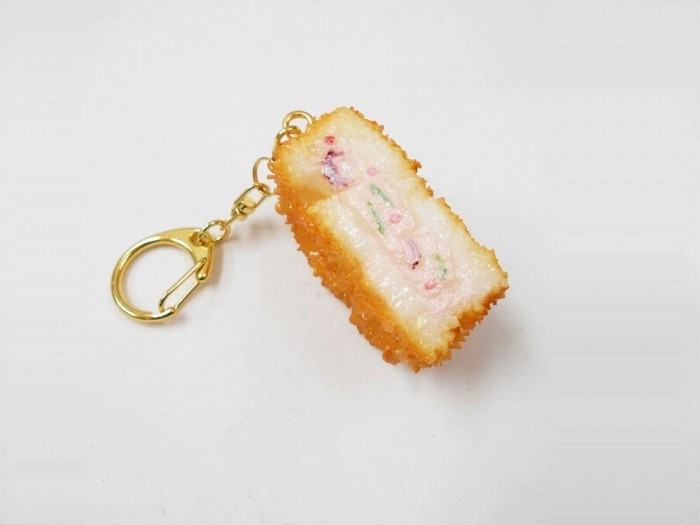 Fried Lotus Root with Minced Meat Filling Keychain