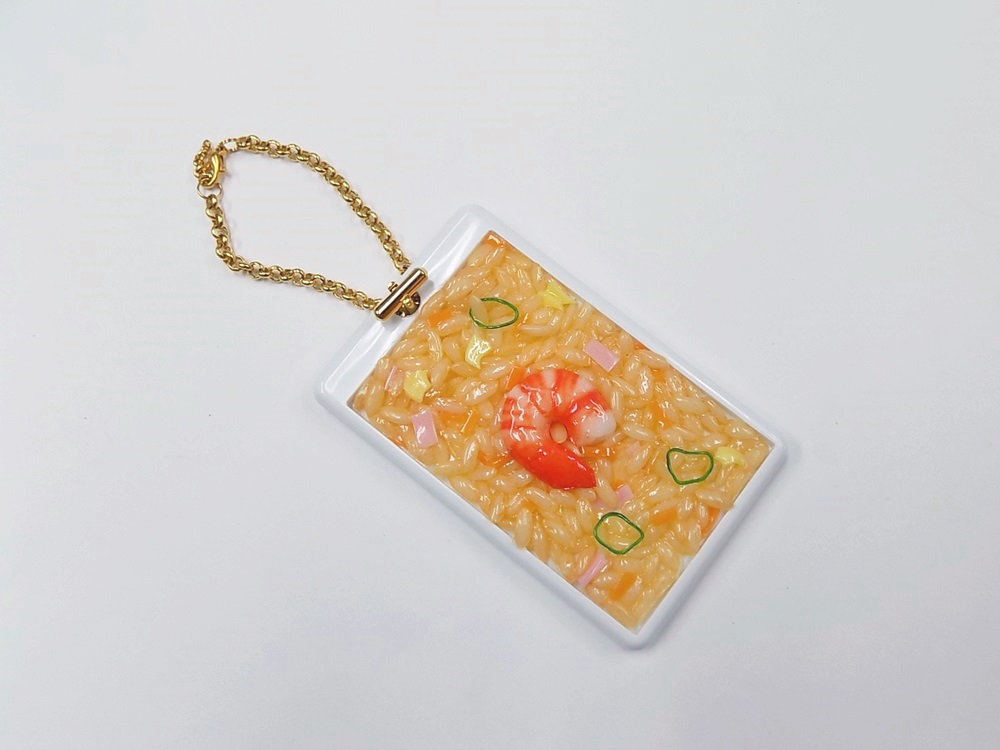 Fried Rice with Shrimp Pass Case with Charm Bracelet