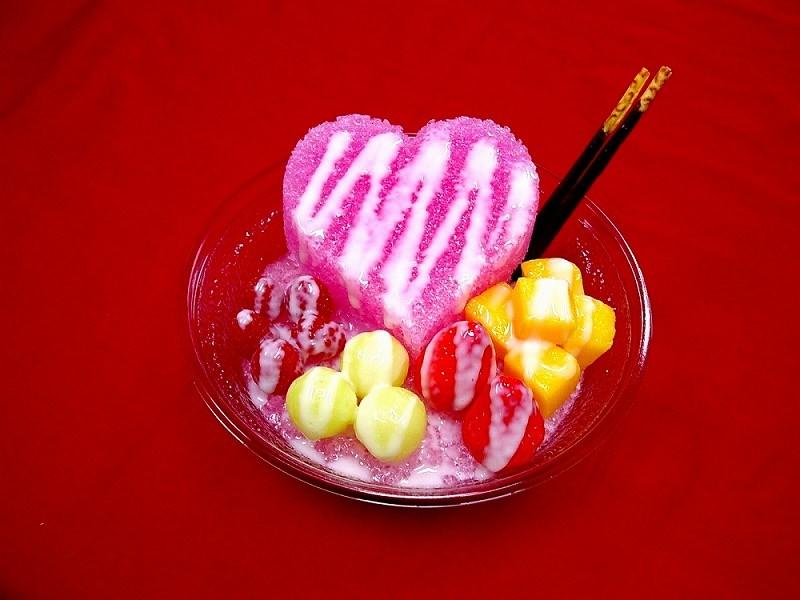 かき氷イチゴ 食品サンプル