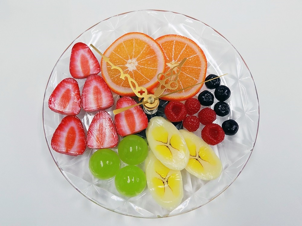 Fruit Assortment (without fork) Wall Clock