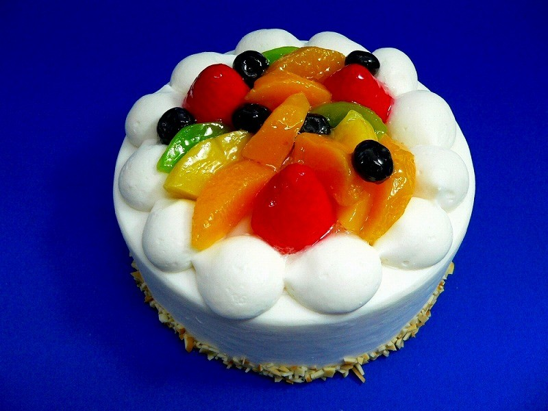 Cake With Fruit Topping : Fruit Topped Cake Replica Fake Food Japan