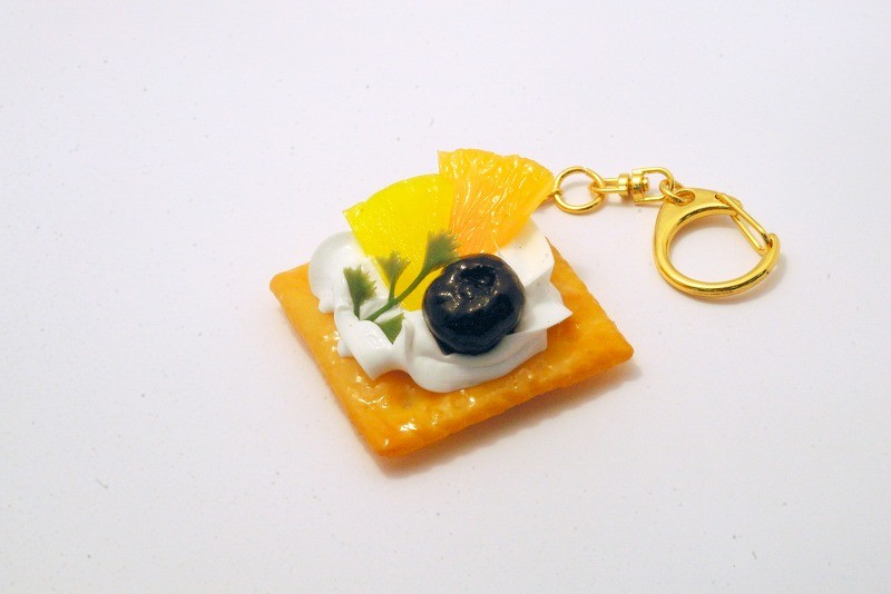 Fruits Topped Cookie Keychain