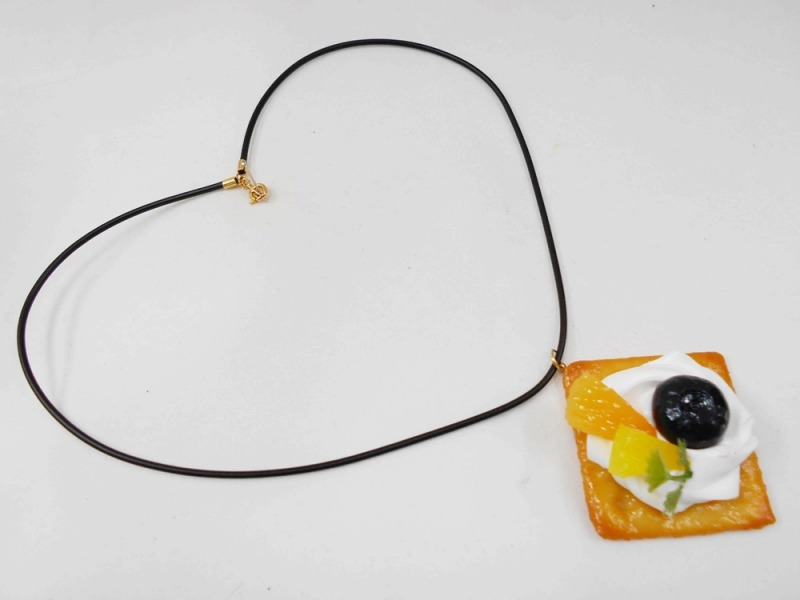 Fruits Topped Cookie Necklace