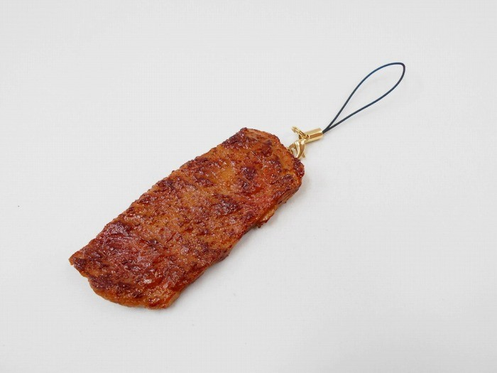 Grilled Beef Cell Phone Charm/Zipper Pull