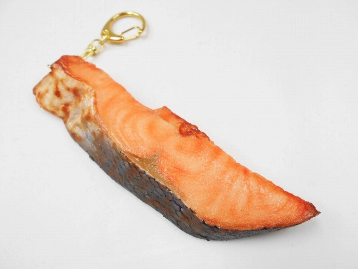 Grilled Salmon (large) Keychain