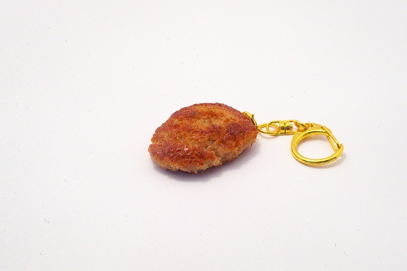 Hamburger Patty (medium) Keychain