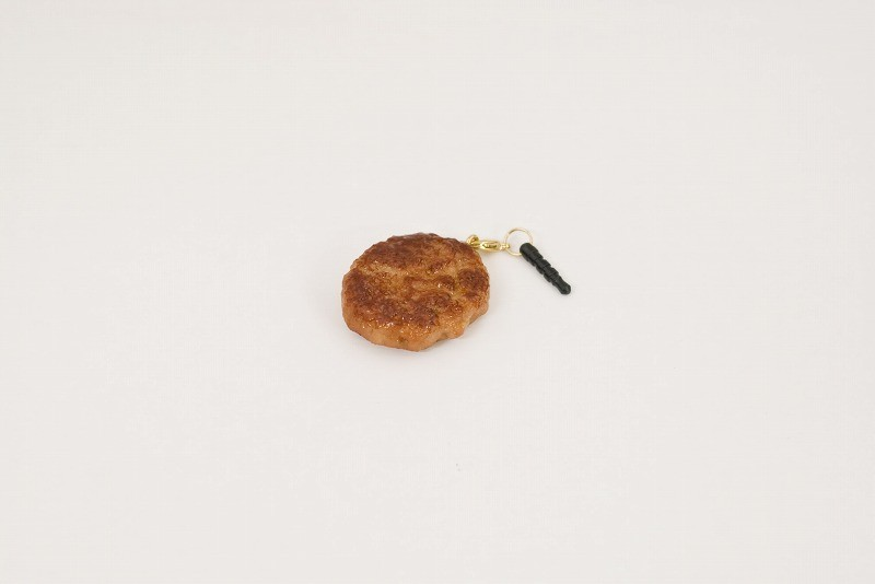 Hamburger Patty (small) Headphone Jack Plug