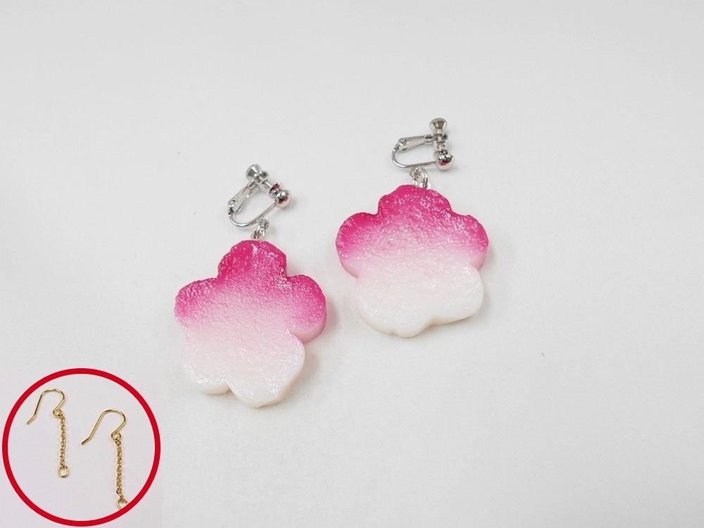 Hanafu (Flower Shaped Wheat Gluten) Pierced Earrings
