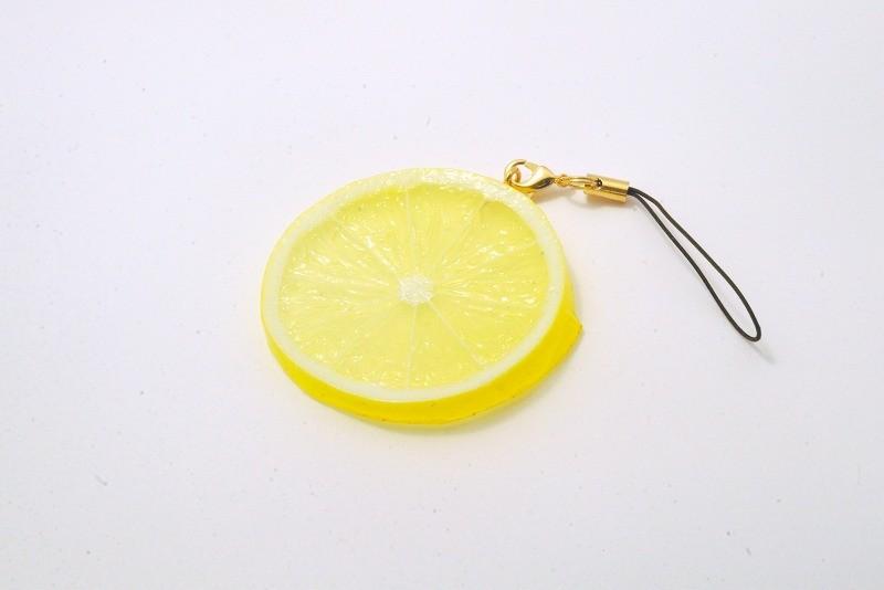Lemon Slice Cell Phone Charm/Zipper Pull