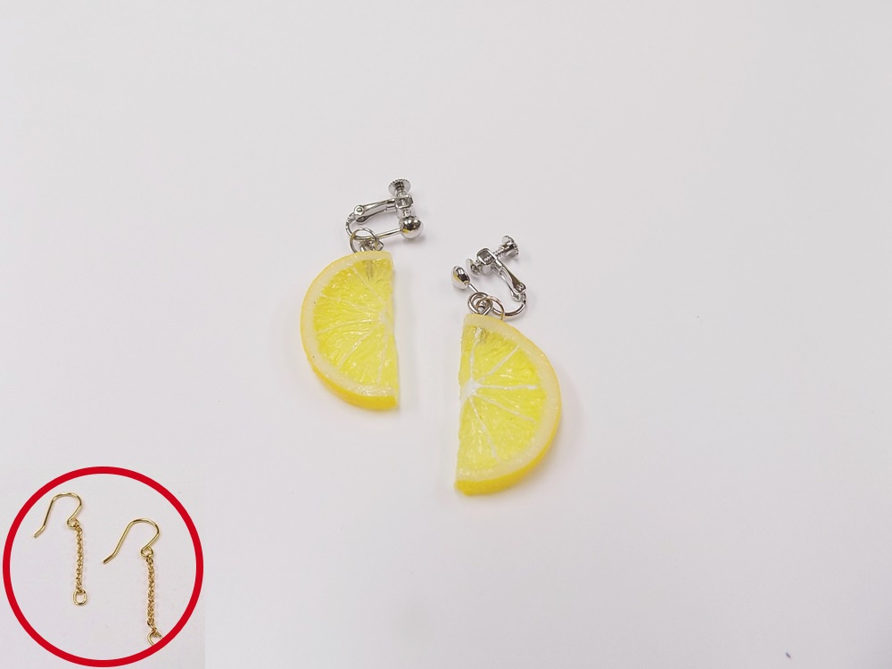 Lemon Slice (half-size small) Pierced Earrings