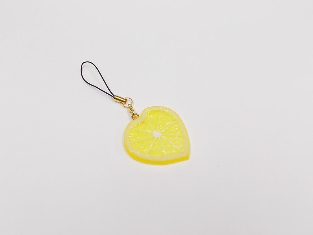 Tranche de citron (en Forme de Cœur) Bijou/fermeture éclair pour téléphone portable