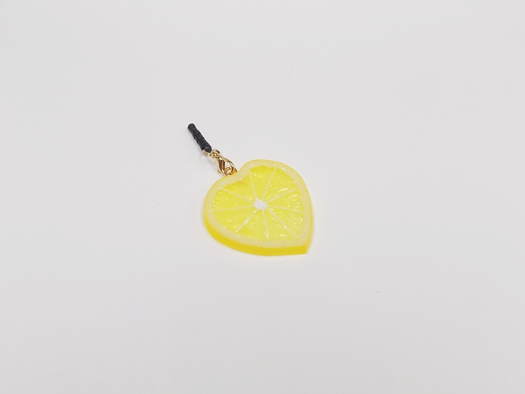 Lemon Slice (Heart-Shaped) Headphone Jack Plug