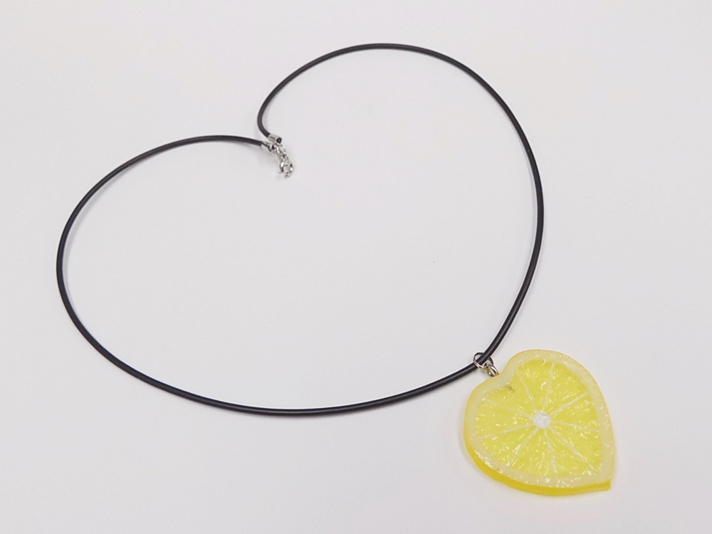 Lemon Slice (Heart-Shaped) Necklace