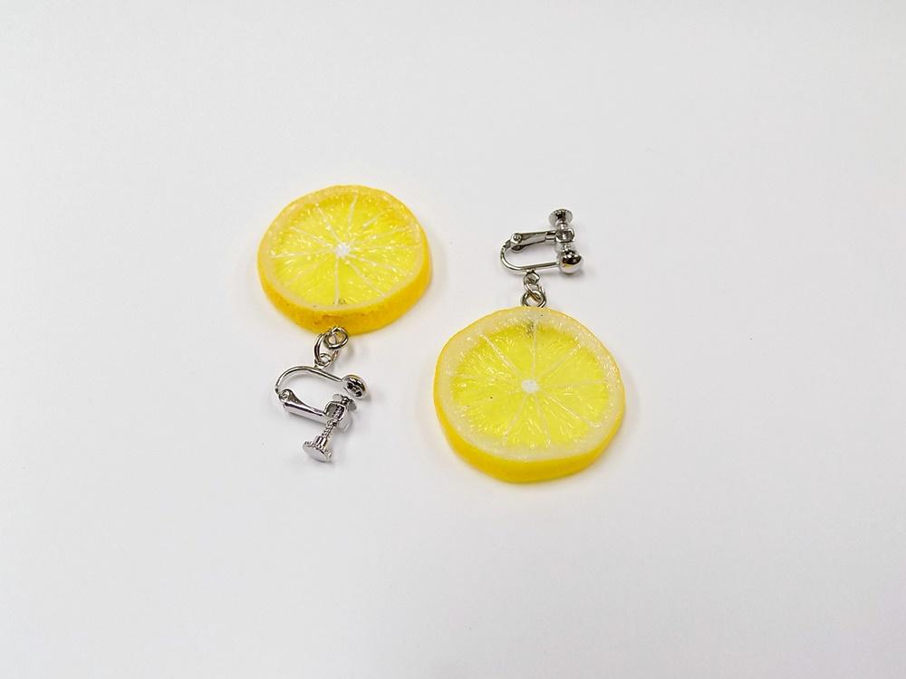 Lemon Slice (small) Clip-On Earrings