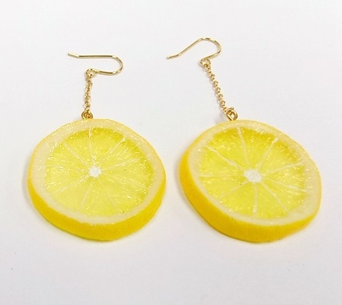 Lemon Slice (small) Pierced Earrings
