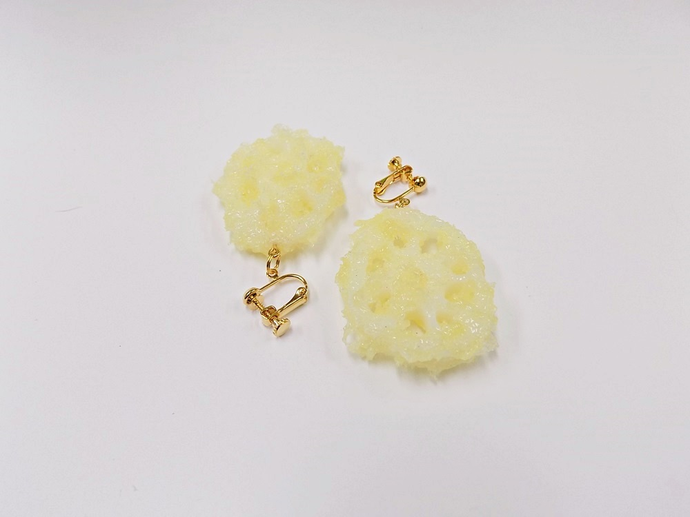Lotus Root Tempura (small) Clip-On Earrings