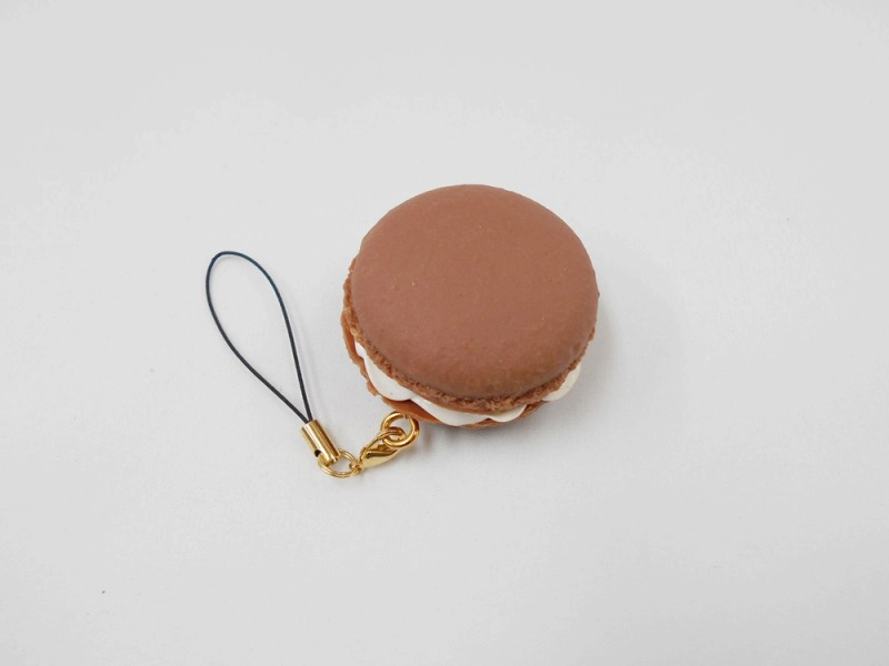 Macaron (chocolate) Cell Phone Charm/Zipper Pull