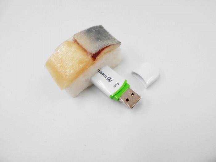 Mackerel Sushi USB Flash Drive (4GB)
