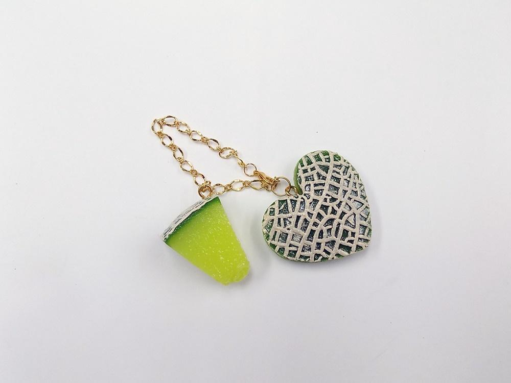 Melon & Melon (Heart-Shaped) (large) Bag Charm