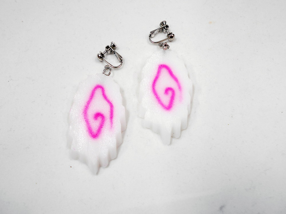 Naruto (Tidal Whirlpool Shaped Wheat Gluten) Clip-On Earrings