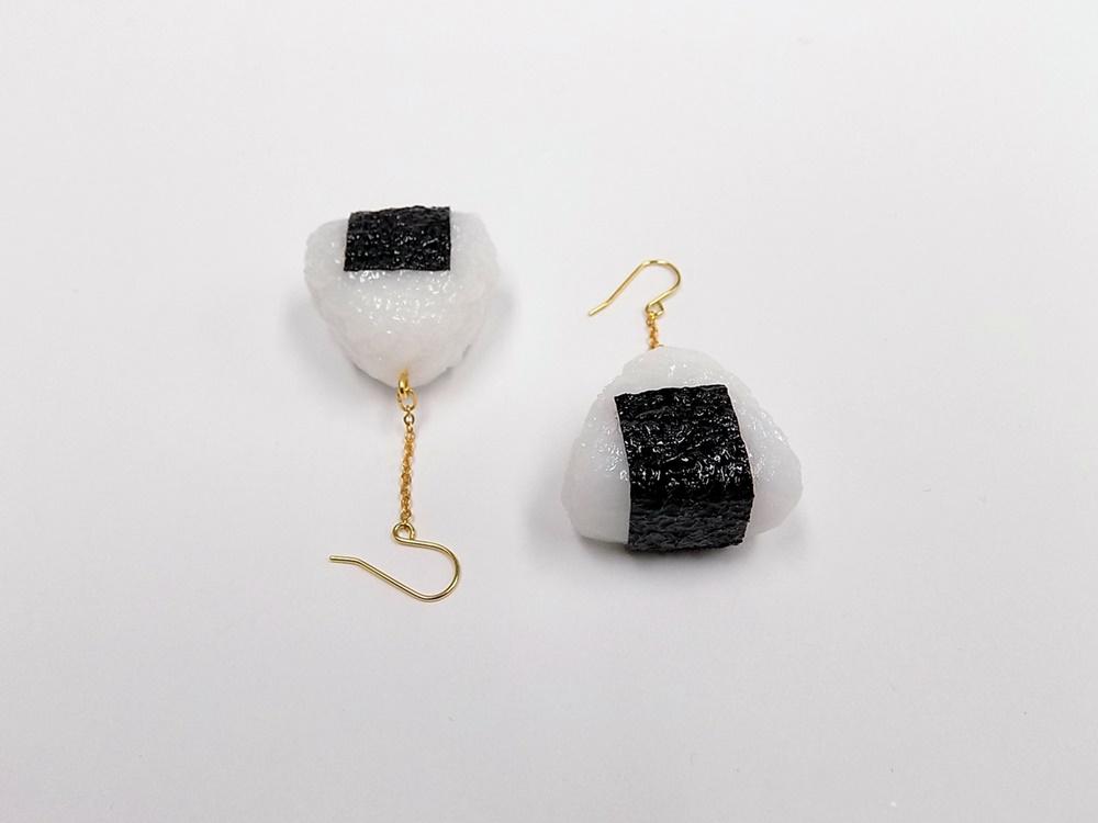Onigiri (Rice Ball) (small) Pierced Earrings