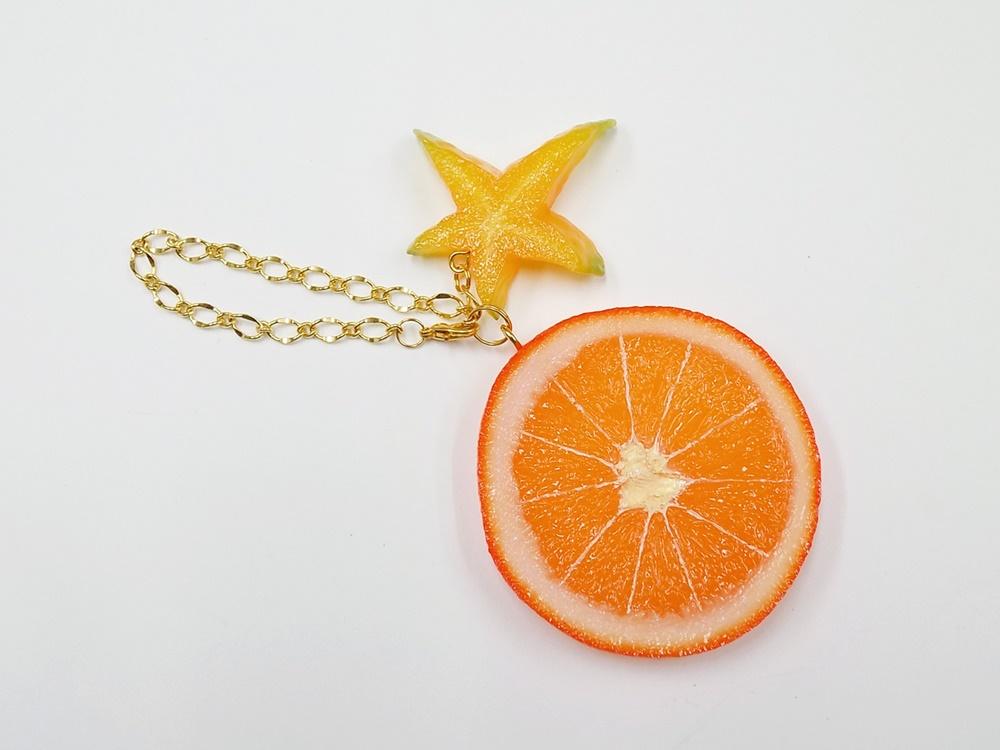 Orange Slice & Star Fruit (small) Bag Charm