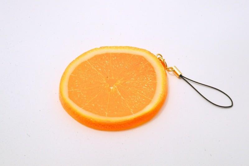 Orange Slice Cell Phone Charm/Zipper Pull