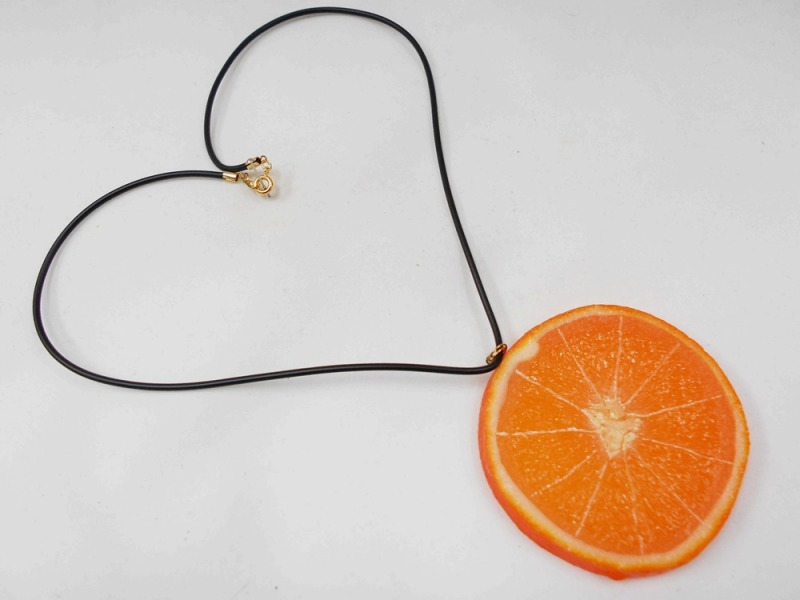 Tranche d'orange Collier