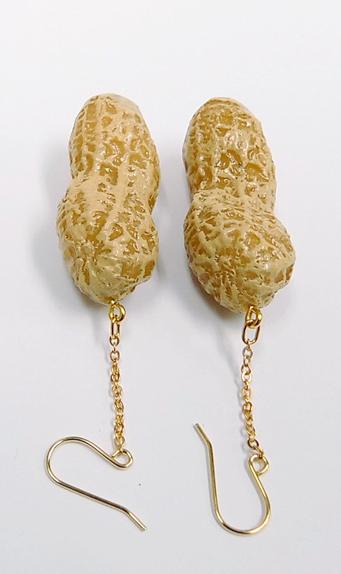 Peanut Pierced Earrings